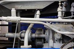 Pièces mécaniques du vieux moteur Photos libres de droits