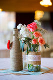 Pièces maîtresses de Tableau de réception de mariage Images libres de droits