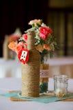 Pièces maîtresses de Tableau de réception de mariage Photographie stock
