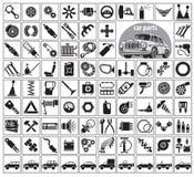 Pièces, outils et accessoires de voiture Photo libre de droits