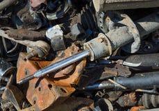 Pièces rouillées inutiles et vieilles de voiture Images stock