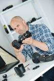 Pièces se réunissantes de caméra vidéo Photos libres de droits