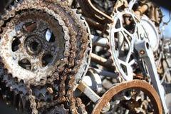 Pièces soudées de bicyclette Image libre de droits