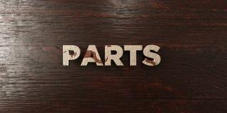 Pièces - titre en bois sale sur l'érable - image courante gratuite de redevance rendue par 3D illustration de vecteur
