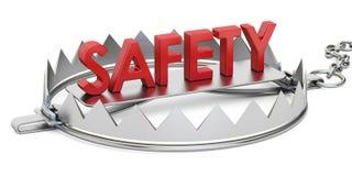 Piège avec l'inscription de sécurité, 3D Image stock