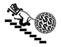 Piège de dette des consommateurs illustration de vecteur