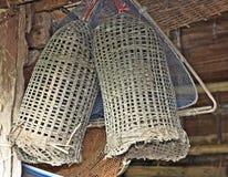 Piège en bambou de poissons Photos stock