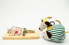 Piège en bois de souris image libre de droits
