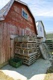 Pièges de homard et huttes de poissons image libre de droits