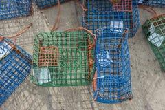 Pièges et mollusques en plastique de poulpe Images stock