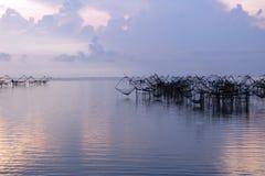 Pièges traditionnels thaïlandais de pêche Images libres de droits