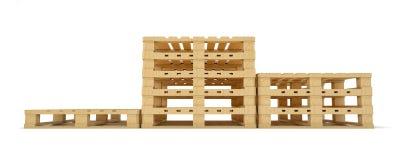 Piédestal de gagnant de palette en bois Photographie stock libre de droits