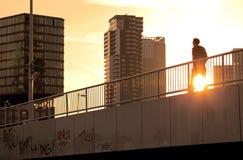 Piéton à Rotterdam, Pays-Bas Image libre de droits
