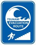 Piéton de tsunami illustration libre de droits