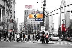 Piétons à New York Photo libre de droits