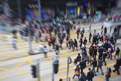 Piétons en Hong Kong Photo libre de droits