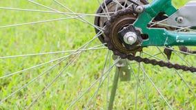 Piñón y chian de la bicicleta Fotografía de archivo libre de regalías