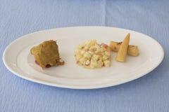 Piña con maíz Imágenes de archivo libres de regalías