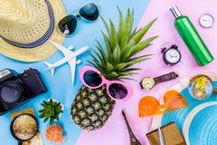 Piña de la moda Color brillante del verano La playa viste Accessorie foto de archivo libre de regalías