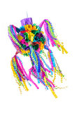Piñata Mexican Party. Piñata, Mexican traditional crafted toy very popular in posadas and parties, white isolated Stock Photos