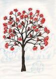 Piñoneros en el ceniza-árbol, pintando Foto de archivo libre de regalías