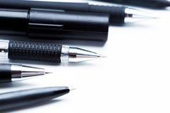 Pióra i ołówki Fotografia Stock