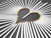 Pióra - serce kształtna ilustracja ilustracji