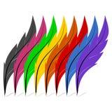 Piórka Colour - ilustracja Zdjęcia Stock