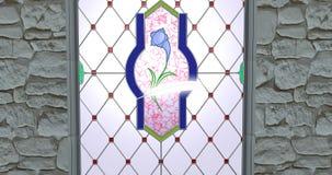 Piórka i vitrage nadokienna 3d ilustracja odpłaca się zbiory