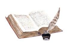 Piórkowa akwareli ilustracji książka royalty ilustracja