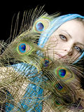 piórkowa ręki szalika kobieta Obrazy Stock