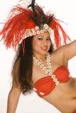piórkowego kobiety tahitian skażonej young Obrazy Royalty Free