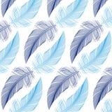 Piórkowy bezszwowy wzór, wektor Obrazy Royalty Free