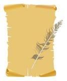 piórkowy stary papierowy kolor żółty Zdjęcie Stock