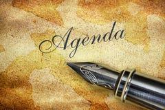 Pióro i słowo agenda Obraz Royalty Free