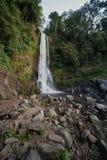 Più alta cascata nelle montagne dell'Indonesia. Fotografia Stock Libera da Diritti