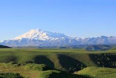 Più alta cima di Europa Elbrus Fotografie Stock Libere da Diritti