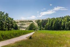 Più alta duna sullo sputo curonian Fotografia Stock
