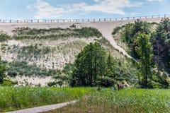 Più alta duna sullo sputo curonian Immagini Stock Libere da Diritti