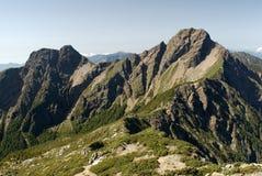 Più alta montagna di East Asia - Mt. Yushan Fotografie Stock