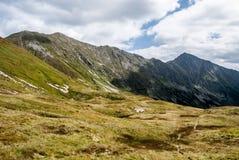Più alta parte della valle di dolina di Gaborova con i picchi intorno in montagne occidentali di Tatras in Slovacchia Fotografia Stock