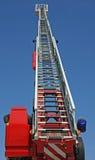 Piattaforma di un camion dei vigili del fuoco durante la sessione di pratica nel Fireho Fotografie Stock Libere da Diritti