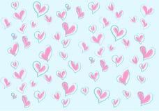 Più amori per il biglietto di S. Valentino Immagini Stock Libere da Diritti