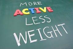 Più attivo meno peso Fotografia Stock Libera da Diritti