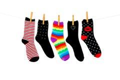Più calzini dell'orfano Fotografia Stock Libera da Diritti