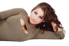Più-formato sexy della donna Fotografia Stock Libera da Diritti