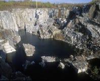 Più grande cava monumentale del granito in sbarra, VT Immagine Stock Libera da Diritti