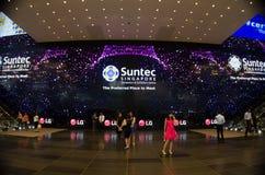 Più grande esposizione di LED Fotografie Stock