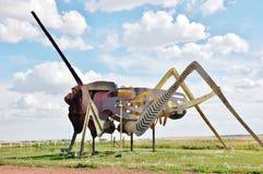 Più grande grasshoper del mondo dal Dakota del Nord Fotografia Stock