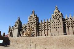 Più grande moschea del fango, Djenne fotografie stock libere da diritti